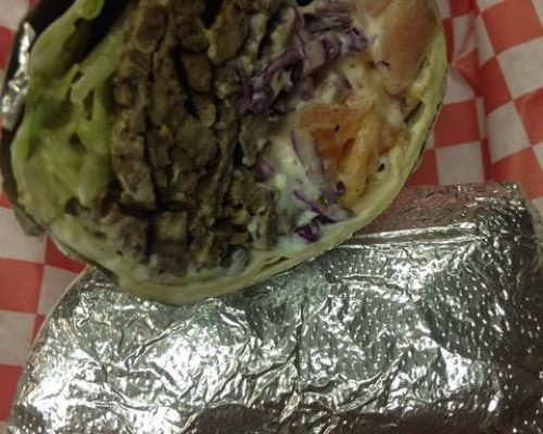 Beef and Lamb Gyro Wrap